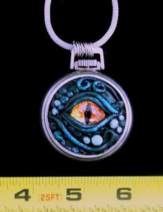 Steampunk Pocket Watch Dragon Eye Altered Art Pendant by mkirby, $25.00