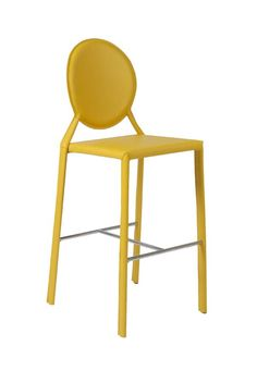 bbcbebfb6c ISABELLA-B BAR CHAIR in Yellow Leather (Set of 2) - Euro Style
