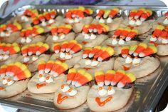 Let the kids make turkey cookies!