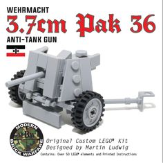 3.7cm PAK 36 Anti-Tank Gun - Modern Brick Warfare Toys