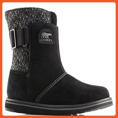 Womens Sorel Rylee Snow Warm Suede Winter Mid Calf Rain Waterproof Boots - Black - 6 - Boots for women (*Amazon Partner-Link)