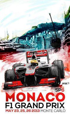 2013 Monaco Grand Prix poster - a future classic?