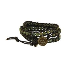 Kappa Delta Triple Wrap Bracelet #Greek #Sorority #Accessories #Jewelry #Bracelet #FriendshipBracelet #KappaDelta #KD