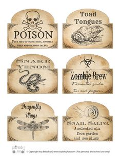 Free Printable Halloween Bottle Labels - Itsy Bitsy Fun#.UkMJmoa9WNM