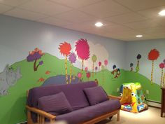 Dr Seuss Playroom Walls Mural Ideas Kids Decor Baby