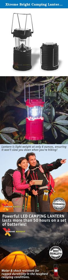 Xtreme Bright Camping Lantern - Fully Collapsible with 7 LED Lights, Weighs only 6 Oz. The Xtreme Bright® Camping lantern offers a unique design that combines light-weight portability, space economy and durability all rolled into one, see the images above. It weighs only 6 ounces, it's completely collapsible so it fits easily inside your backpack, and the LED lights provide 50 hours of long-lasting, brilliant illumination in low light. This camping lantern provides efficient design and...