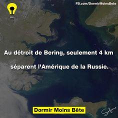 Au détroit de Bering, seulement 4km séparent l'Amérique de la Russie.