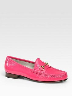 Gucci flats, because who doesn't need pink loafers?