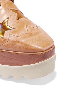 Stella McCartney - Faux Leather Platform Brogues - Gold - IT37.5