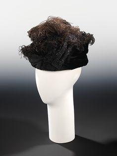 Evening toque Designer: West's  Date: 1915 Culture: American Medium: silk, feathers Accession Number: 2009.300.1982