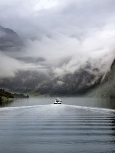 Cruising a Fjord in Norway /// Beautiful Norway, Beautiful World, Beautiful Places, Places To Travel, Places To See, Places Around The World, Around The Worlds, Les Continents, Montenegro
