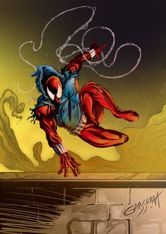 #Scarlet #Spider #Fan #Art. (Scarlet Spider Color) By: Gabserra. (THE * 5 * STÅR * ÅWARD * OF: * AW YEAH, IT'S MAJOR ÅWESOMENESS!!!™)[THANK Ü 4 PINNING!!!<·><]<©>ÅÅÅ+(OB4E)