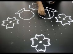 Bhogi kundalu /sankaranthi rangoli /pongal kolam with 14 dots Rangoli Kolam Designs, Rangoli Designs With Dots, Kolam Rangoli, Rangoli With Dots, Beautiful Rangoli Designs, Simple Rangoli, Kolam Dots, Latest Rangoli, Special Rangoli