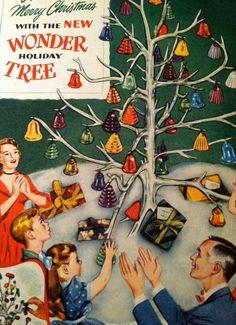 """Vintage Christmas Ad..the """"wonder tree."""""""