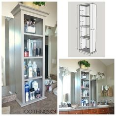 Bathroom Storage Tower, Bathroom Tower, Vanity Tower, Cabinet On Bathroom  Vanity, Vanity Cabinet, Bathroom Cabinet