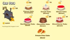 Cake Oven, Hay Day, Red Berries, Food Illustrations, Carrot Cake, Game, Desserts, Gaming, Tailgate Desserts