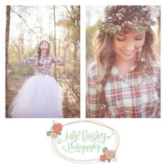 Oh I love the idea of flannel /w the tulle skirt!!