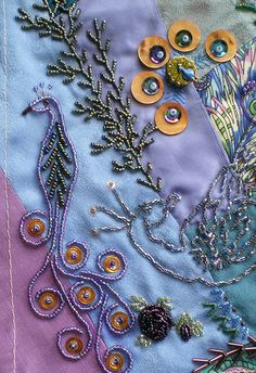 I ❤ crazy quilting, beading and embroidery . . . Crazy Quilt ~ Love ~By Jo in NZ
