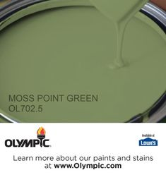 MOSS POINT GREEN OL702.5 is a part of the greens collection by Olympic® Paint.