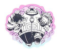 My Hero Academia - Amajiki, Fatgum & Kirishima Boko No Hero Academia, My Hero Academia Memes, Hero Academia Characters, My Hero Academia Manga, Dibujos Tumblr A Color, Tamaki, Kirishima Eijirou, Fan Art, Anime Shows
