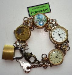 Steampunk Recycled Vintage Watches - Just visited this shop today ... very fun!