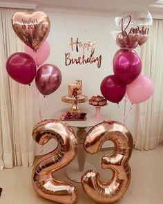 Birthday Goals, 18th Birthday Party, Birthday Party Themes, Birthday Photos, Simple Birthday Decorations, Balloon Decorations Party, Birthday Balloons, Instagram, Check