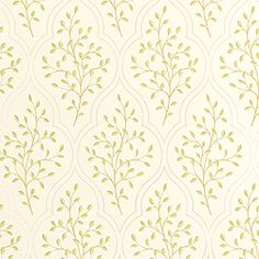Sassafras #wallpaper in #cream from the Chelsea collection. #Thibaut
