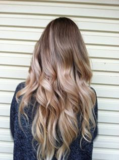 Re-pin for new board – Bronde Ombre. Like that it's more ashy at the bottom than platinum *