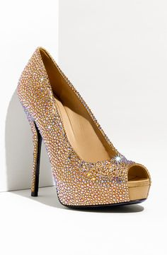 Gucci 'Sofia' Crystal Embellished Platform Pump.  Okay, so I tried these on. Very beautiful, but too expensive.  $2295.00 at Nordstrom