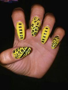 Cheetah and zebra pront with stones