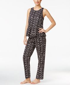 kate spade new york Ribbon Print Sateen Pajama Set