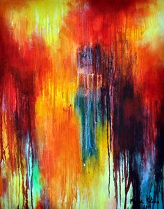 Abstract 99  original oil painting LARGE 40x32 by MariaKitanoArt, $500.00