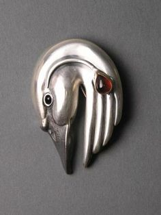 handcrafted silver animal totem jewelry, silver swan jewelry