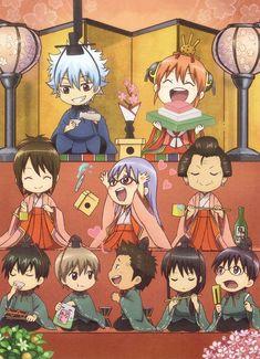 GINTAMA, Chibi Characters, Sakata Gintoki, Kagura, Shimura Otae, Sarutobi Ayame, Otose, Hijikata Toushirou, Okita Sougo, Kondo Isao, Katsura Kotarou, Shimura Shinpachi