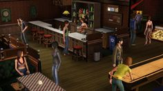 Get your Sims an all-access pass to the hottest spots in town in The Sims 3 Late Night. What will your Sims get up to after dark? Sims 3 Pc, Night Bar, Ea Games, Late Nights, After Dark, Building, Cas, Addiction, Homes