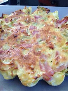 Quiche poireaux pommes de terre sans pâte - Rachel et sa cuisine légère et gourmande
