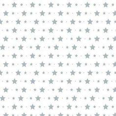 Mural papel pintado con estrellas y estrellitas gris azulado. 139,50cm x 2,70 metros (telas & papel)