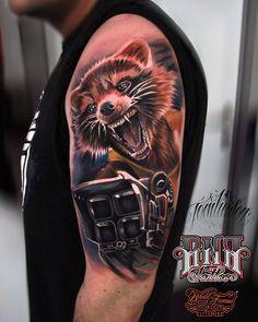 """""""Rocket raccoon sleeve tattoo"""