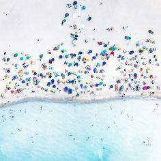Foto aérea playa azul
