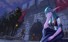 World of Warcraft Race Night, Night Elf, Wow Elf, Character Art, Character Design, Elf Characters, War Craft, Cg Artist, Illustration