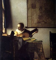 """""""Woman with a Lute"""" (1662-64)"""
