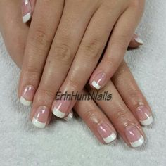 French shellac like and share https://www.facebook.com/ErinHuntNails
