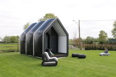 AirClad Black House - a bespoke custom designed structure.