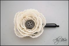A Few of My Favorite Things: Jax From Aly & Ash - Lace Flower Tutorial