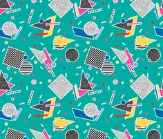 Candy Memphis Inspired Pattern 8 fabric by seasonofvictory on Spoonflower - custom fabric