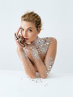 Karlie Kloss Wears a Crystal Bodysuit in Swarovski's Fall Campaign