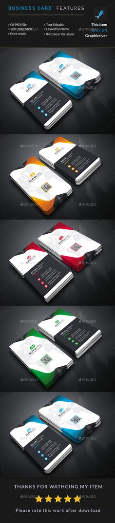 Abstract Business Card — Photoshop PSD #package #designer • Available here → https://graphicriver.net/item/abstract-business-card/15633973?ref=pxcr