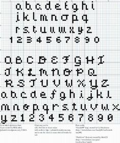 InstantlyDelivered Pdfs  Subversive Cross Stitch  Font Alphabet