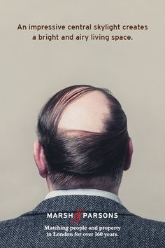 Creative marketing campaign, 'Matching people and property' – Award-winning advertising from London estate agents, Marsh and Parsons. Modern Haircuts, Haircuts For Men, Undercut Combover, Pompadour Men, Hair Trends 2015, Wavy Hair Men, Wedding Hairstyles, Medium Hairstyles, Brand Campaign