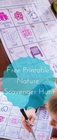 Free Nature Scavenger Hunt Printable to use for next walk with kids